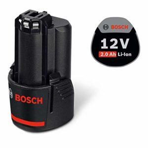 Bosch Professional 12V Akku (GBA 2, 0 Ah, 175 g Gewicht, kompatibel mit 12V) 1600Z0002X